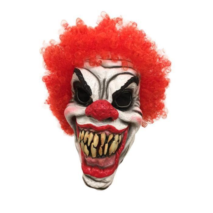 1 pc masque Latex horrible clown à dents sombres accessoires de Cosplay pour MASQUE VISAGE - ACCESSOIRE DEGUISEMENT VISAGE
