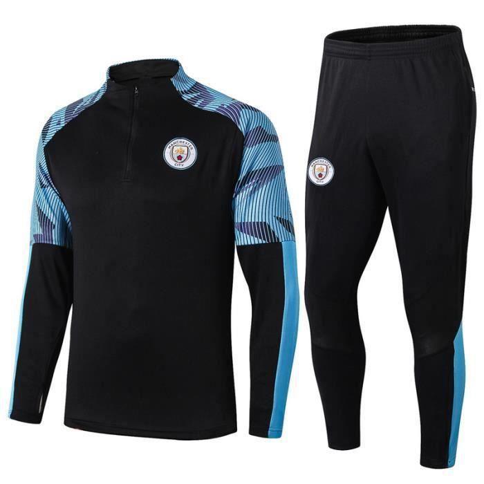 Survêtements Foot Homme Manchester City - Maillot Foot Homme 20-21 Survêtements Foot Maillot de Foot - Haut et Pantalon