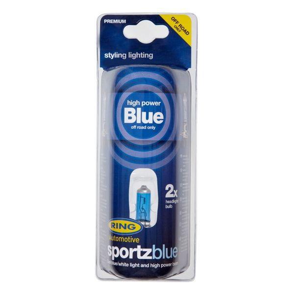 2 ampoules 80w SPORTZ BLUE H7 RING