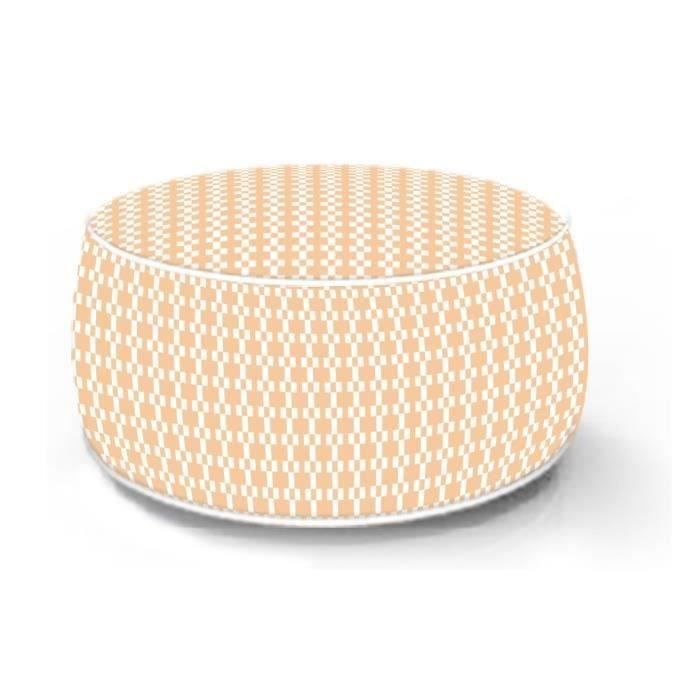 SOLYS Pouf gonflable Gerone - Orange nude