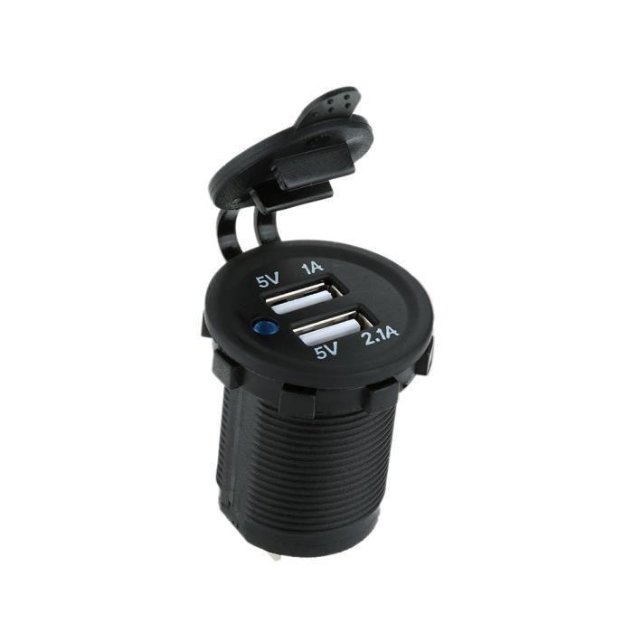 USB double prise chargeur adaptateur alimentation téléphone portable pour voiture camion Minibus Auto moto