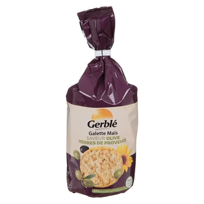 GERBLE Galettes de maïs aux olives herbes provence - 123,5g