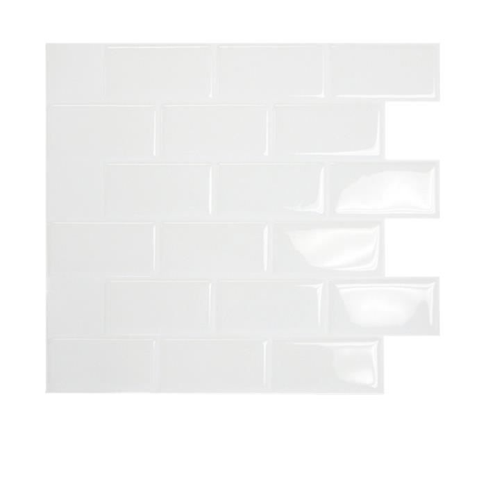 carrelage mural subway white achat vente stickers cdiscount. Black Bedroom Furniture Sets. Home Design Ideas