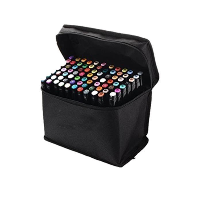 MARQUEUR TouchFive Marker Lot de 80 Marqueurs à Alcool Doub