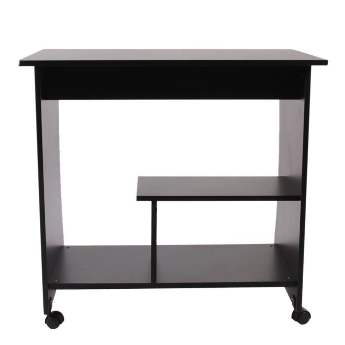 bureau d 39 ordinateur pc table de bureau avec des roues. Black Bedroom Furniture Sets. Home Design Ideas