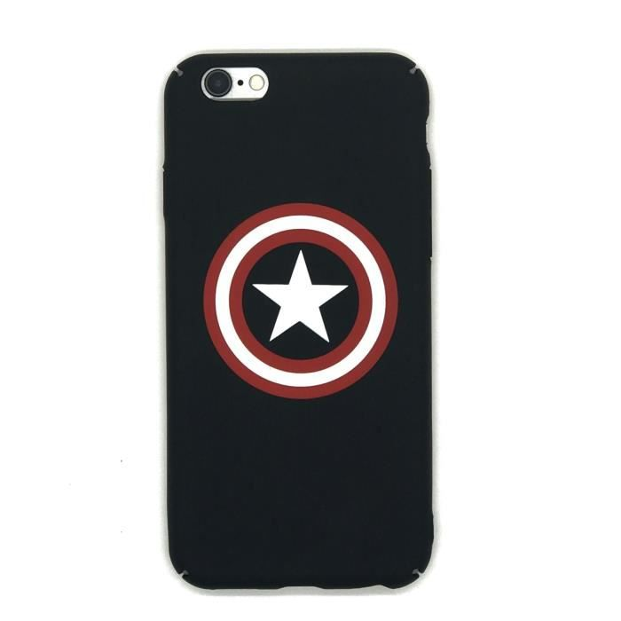 Marvel Comics Avengers Captain America Coque Apple Coque iPhone 8 ...
