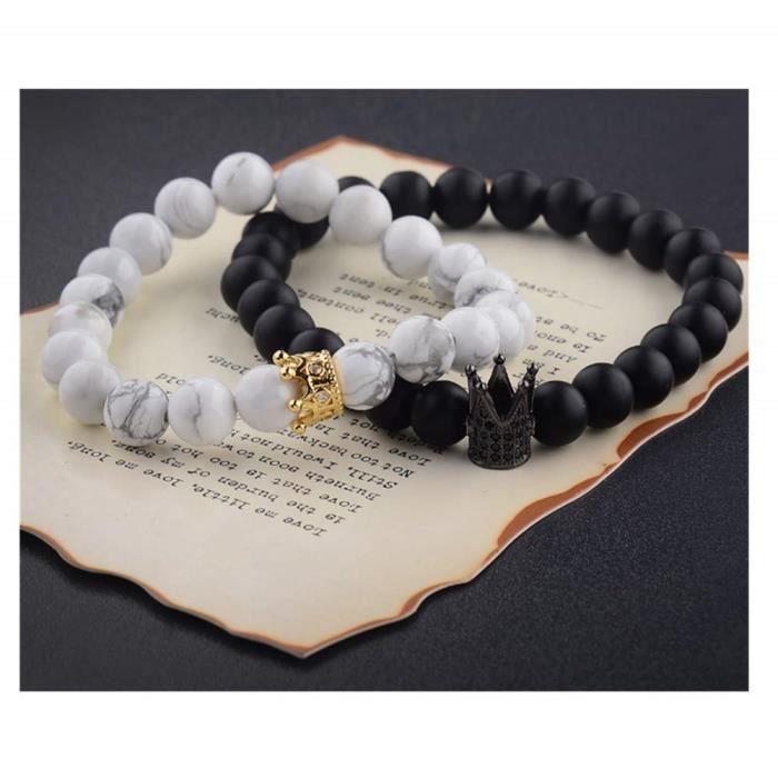 bracelet couple couronne