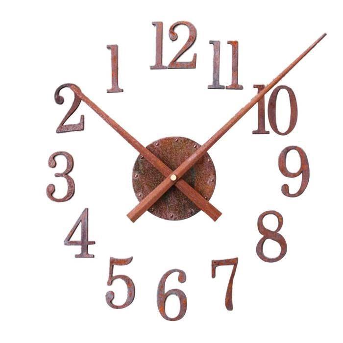 Diy Horloge Murale Vintage Horloge Rétro Rouille Mur Montre Décor à Maison Silencieux Sens Inverse Sens Inverse Bcd6710 Achat Vente Horloge Pendule Prolongation Soldes Cdiscount
