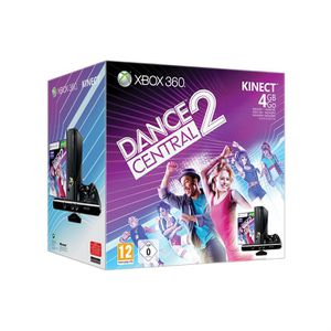 CONSOLE XBOX 360 XBOX 360 4 Go KINECT + DANCE CENTRAL 2