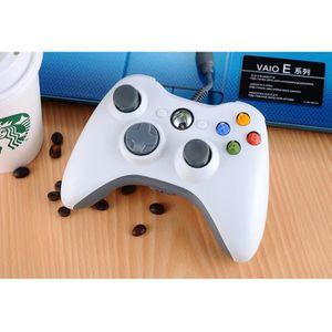 JOYSTICK BLANC/Manette de Jeu Filaire Xbox pour PC & Xbox 3