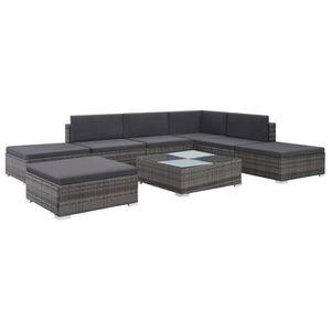Ensemble table et chaise de jardin HENGL Ensemble de canapé de jardin 20 pcs Résine t