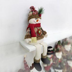 VILLAGE - MANÈGE Assis Père Noël Bonhomme de neige Elk Décoration d