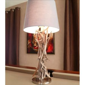 lampe a poser bois flotte achat vente lampe a poser bois flotte pas cher soldes cdiscount. Black Bedroom Furniture Sets. Home Design Ideas