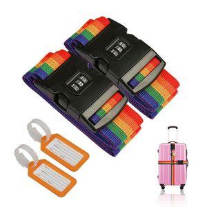 /Étiquettes de Bagages Code de Verrouillage avec Combinaison /à 3 Chiffres pour S/écurit/é des Valises de Voyage Serrures /à Bagages TSA Yosemy 2 Pack Cadenas de S/écurit/é de Bagages