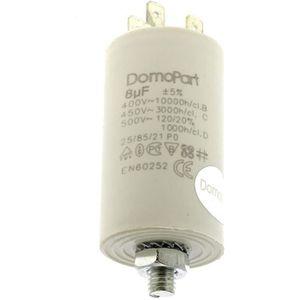 CONDENSATEUR Condensateur 8µf 400v pour Lave-linge Bosch, Sech