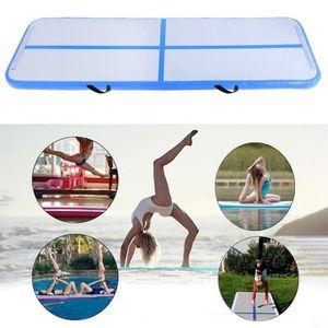 TAPIS DE SOL FITNESS BLEU tapis de gymnastique gonflable avec 700W pomp
