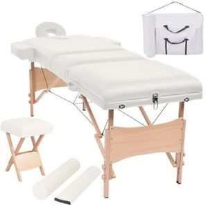 Table de massage Dealpark Table de Massage Pliable Lit de Massage P