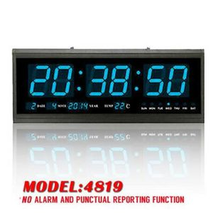 HORLOGE - PENDULE Horloge Murale Numérique Grand LED Digital Montre