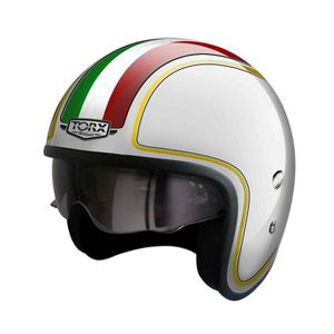 CASQUE MOTO SCOOTER CASQUE JET CUSTOM TORX WYATT HARRY ITALIE  (M)