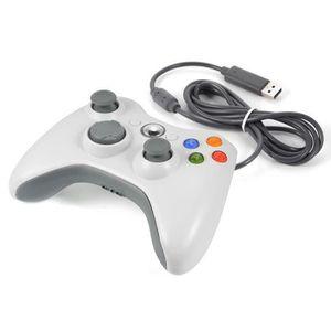 MANETTE JEUX VIDÉO Manette filaire Pour Xbox 360 Console Joystick Mic