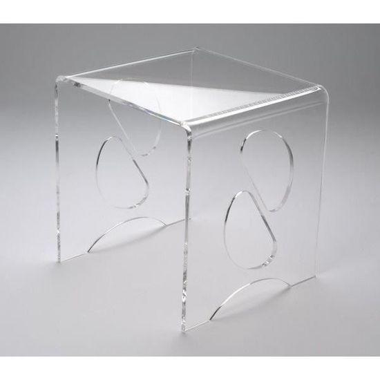 table basse de chevet table verre Console acrylique verre de uT1FclKJ3