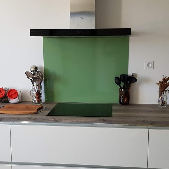 Crédence Aluminium Vert Pâle - H 60 cm x L 110 cm-Fond de Hotte