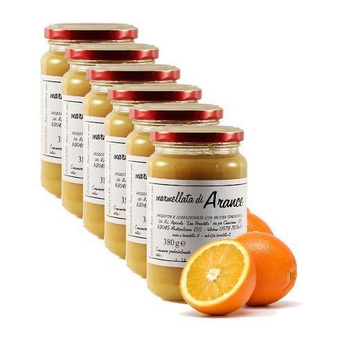 Marmelade d'orange biologique San Benedetto 6 pots 380 grammes - Produit artisanal italien