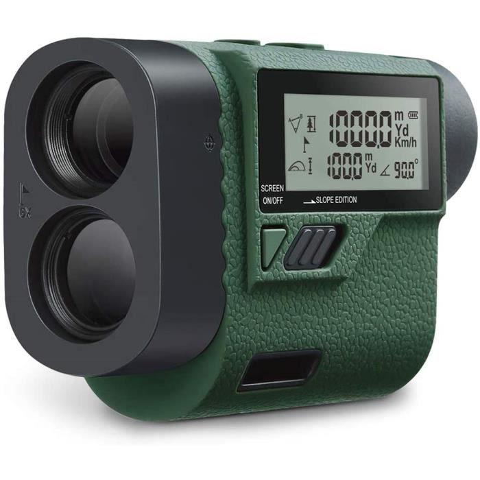 Télémètre Laser Golf Huepar 1000M Télescope Optique Professionnel 6X Écran LCD Angle Précision ±1° IP 65 Pour Golf et Chasse-HLR1000