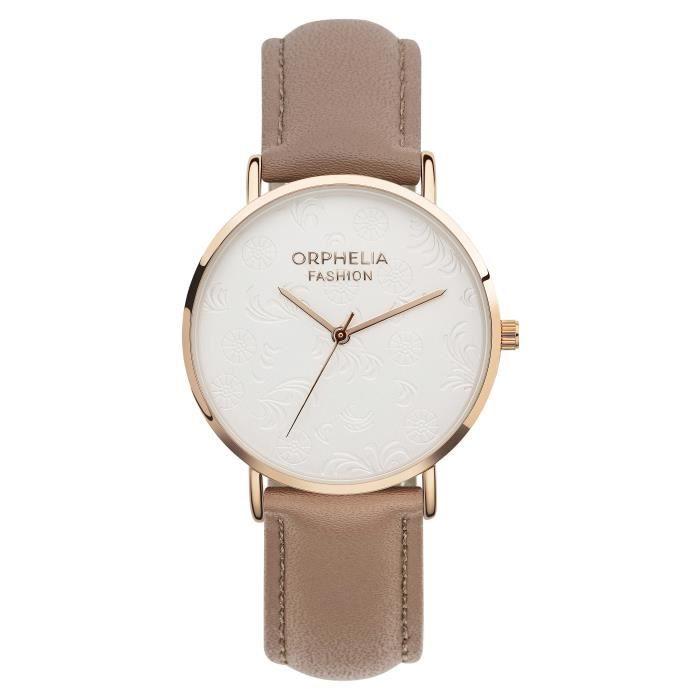 Orphelia Fashion - Montre Femme - Quartz Analogique - Bracelet Cuir Marron - OF711814