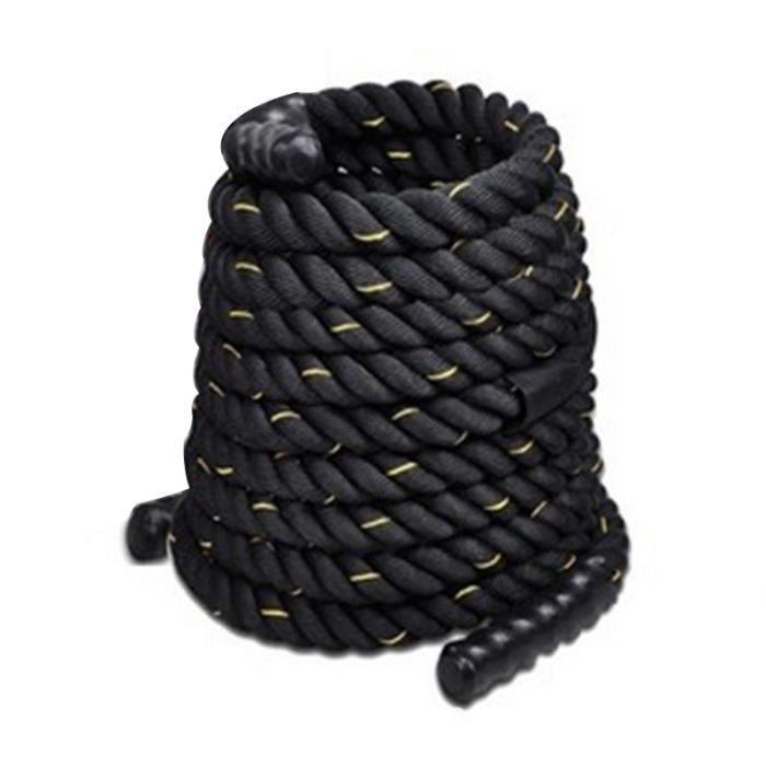 Accessoires Fitness - Musculation,Corde de puissance de Sport de corde de combat d'ondulation lourde noire - Type Black 12mx3.8mm