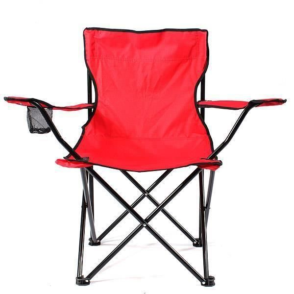 Chaise de camping pliable fauteuil de plage extérieur KING DO WAY Rouge At55194