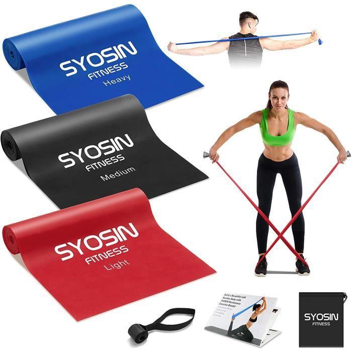 SYOSIN Bande Elastique Fitness,Élastique Musculation Bande de Resistance [Lot de 3], Elastique de Sport Pilates Yoga d'Étirement Réé