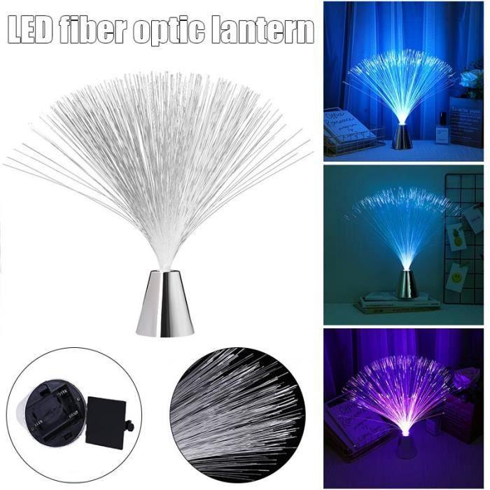 Fontaine lumineuse Led multicolore en Fiber optique, luminaire décoratif intérieur, idéal pour dormir, GQ~as s S2485548