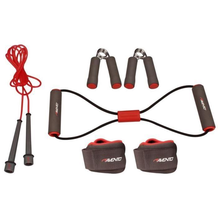 Kit de fitness - Corde a Sauter à Grande Vitesse - gris-rose-noir Avento 41VE