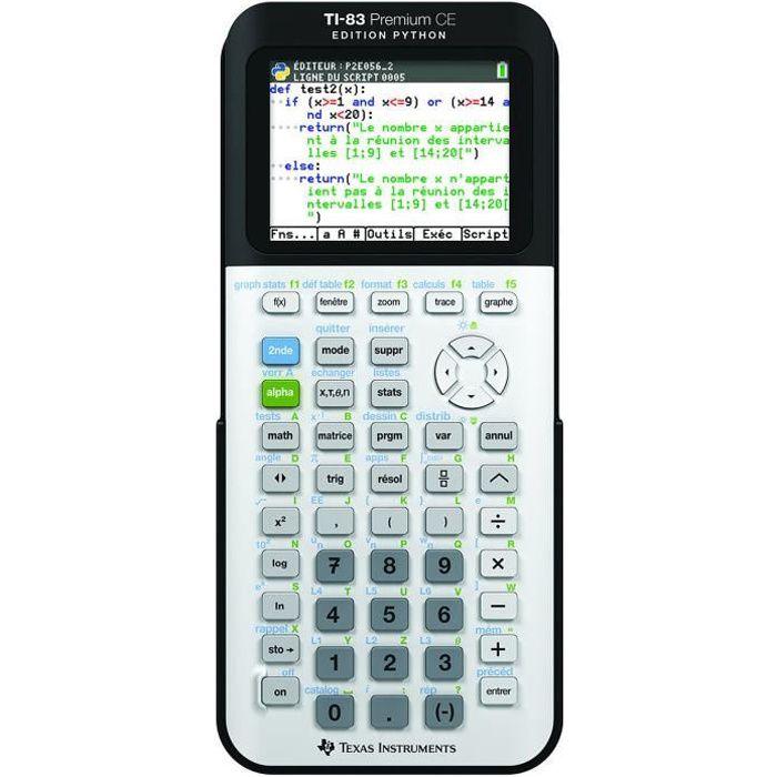 Calculatrice Texas Instrument TI-83 Premium CE Python