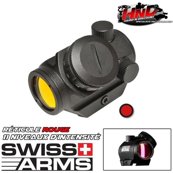 Red dot compact en polymère - Point rouge - Viseur Swiss Arms