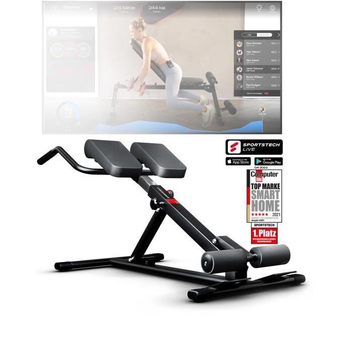 Sportstech Banc de Musculation BRT150 6en1 avec Barre à dips pour Domicile, Hauteur réglable, Ergonomique + système de pliage facile