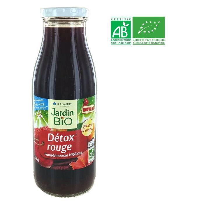 JARDIN BIO Détox Rouge Pamplemousse Hibiscus - 50 cl