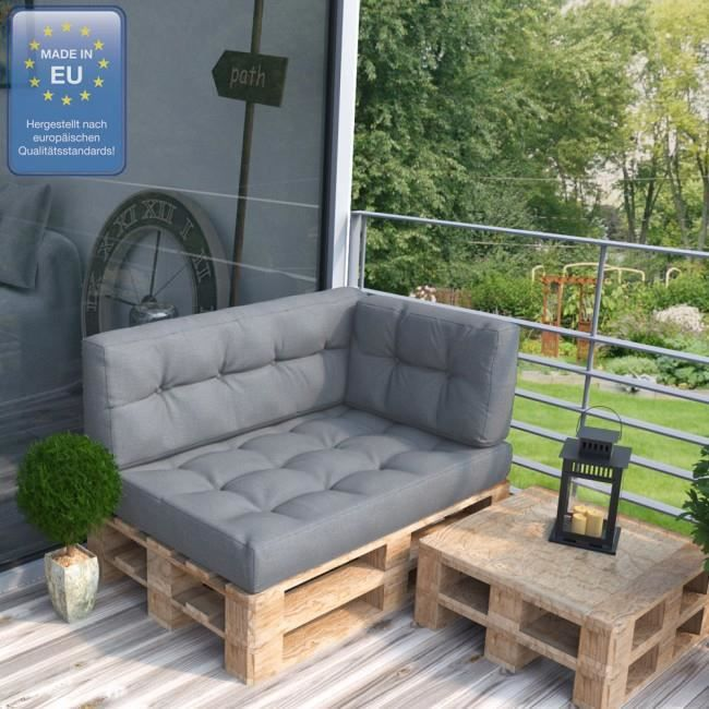 Coussin pour mobilier de jardin pallet Grigio Mod3 - Achat ...