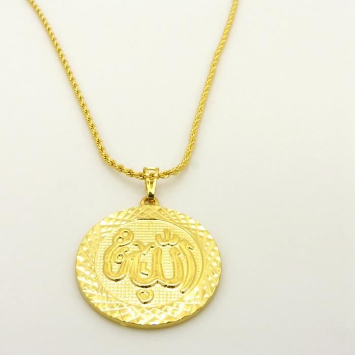 collier allah homme