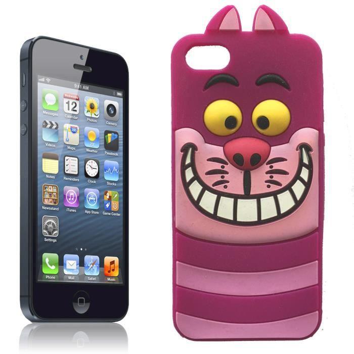 Coque iPhone 5C cheshire cat en silicone souple - Cdiscount Téléphonie
