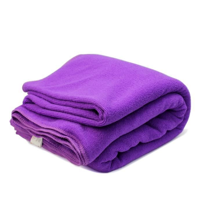 Serviette bain lavage violet microfibre absorption d 39 eau absorbant confor - Temperature lavage serviette de bain ...