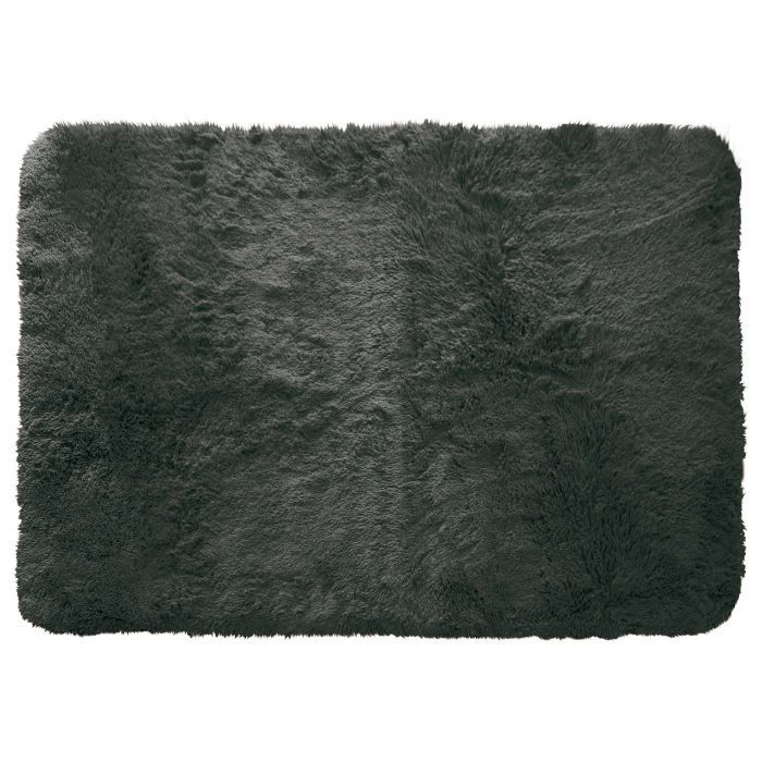 tapis poils longs 120x170cm marmotte anthracite achat vente tapis cdiscount. Black Bedroom Furniture Sets. Home Design Ideas