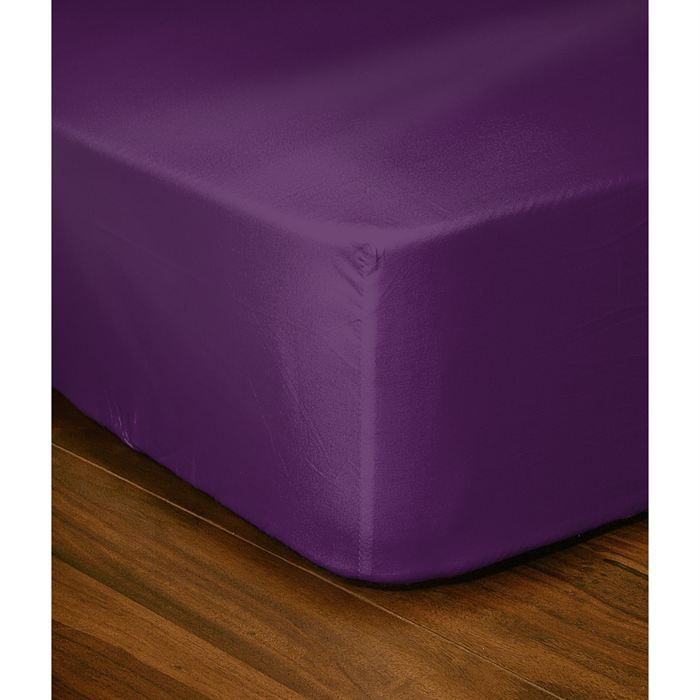 casatxu drap housse 140x190cm violet achat vente drap housse cdiscount. Black Bedroom Furniture Sets. Home Design Ideas