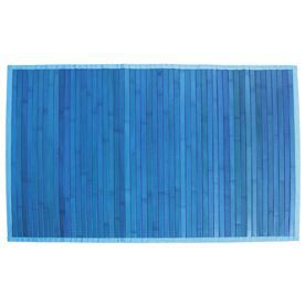 tapis de bain en bambou 60x90 cm bleu achat vente tapis bain cdiscount. Black Bedroom Furniture Sets. Home Design Ideas