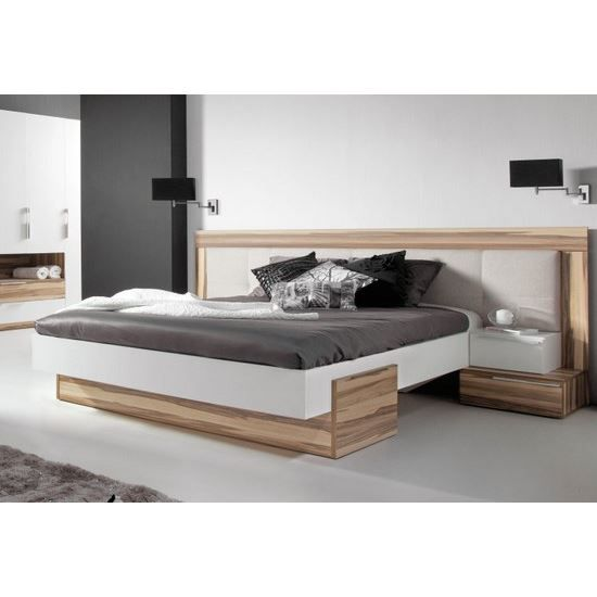 lit design white 160 x 200 cm achat vente structure de. Black Bedroom Furniture Sets. Home Design Ideas