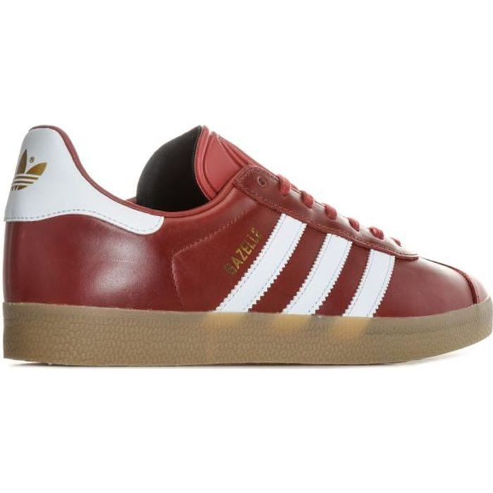 Baskets adidas Originals Gazelle pour femme en rouge.
