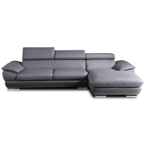 canap d 39 angle gary gris clair achat vente canap sofa divan. Black Bedroom Furniture Sets. Home Design Ideas