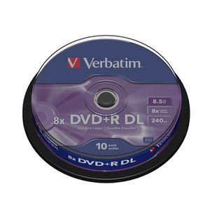 CD - DVD VIERGE Verbatim 10 DVD+R DL 8x