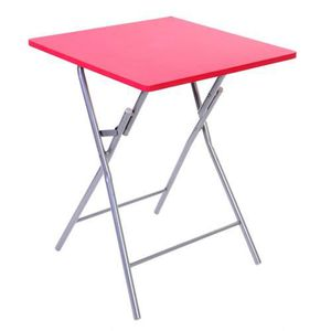 TABLE DE JARDIN  Table pliante Basic - Rouge